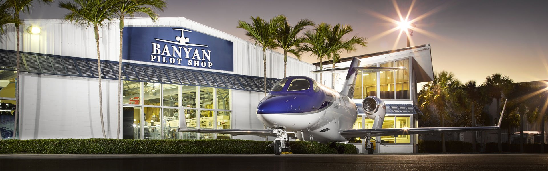 HondaJet parked at Banyan Pilot Shop