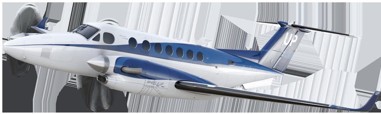 King Air taking off
