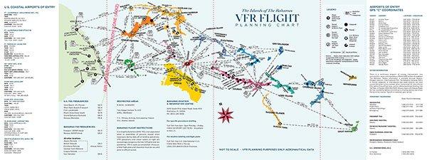 Bahamas VFR Flight Chart Excerpt