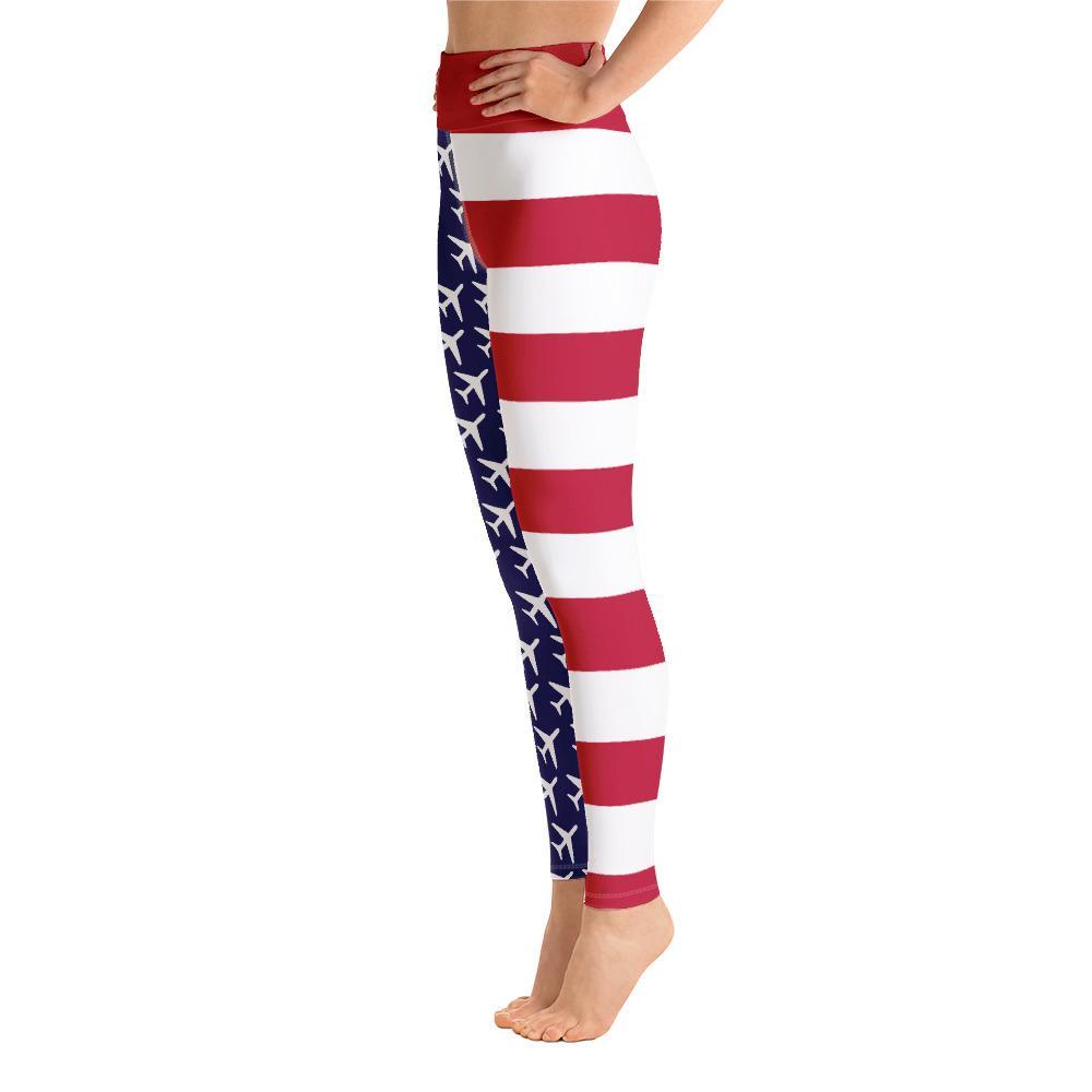 American Flag Aviation Yoga Leggings