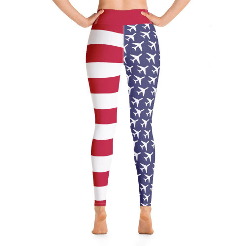 American Flag Aviation Yoga Leggings